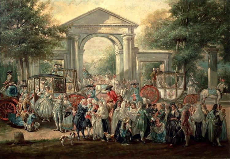 A Fiesta in a Botanical Garden - Luis Paret y Alcazar