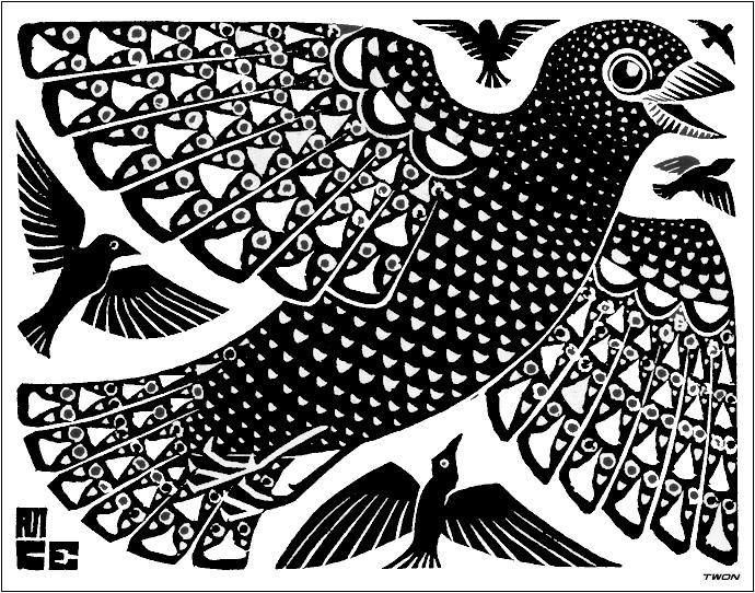 Birds, 1926 - M.C. Escher