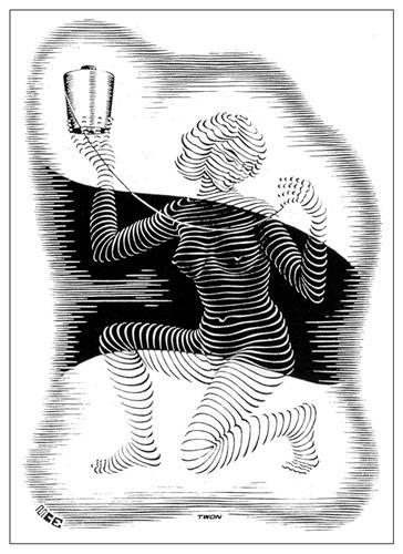 Christmas Card - M.C. Escher