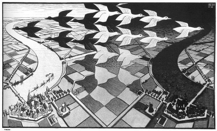 Day and Night, 1938 - M.C. Escher