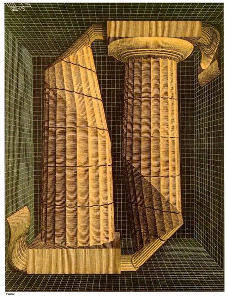 Doric Columns, 1945 - M.C. Escher