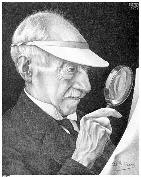 Portrait of G.A. Escher, 1935 - M.C. Escher