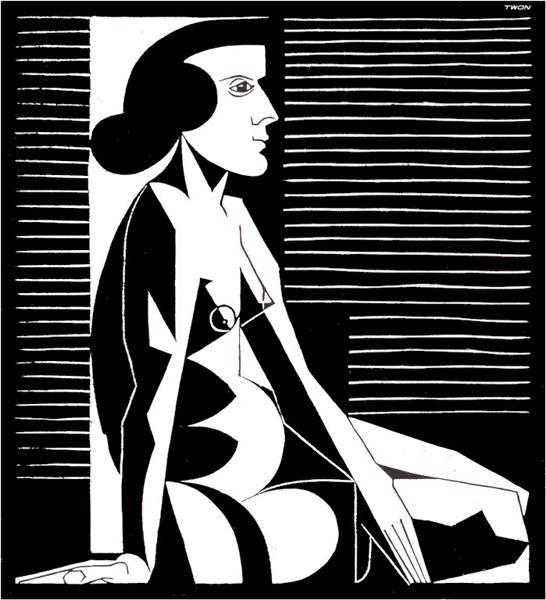 Seated Female Nude III, 1920 - M.C. Escher