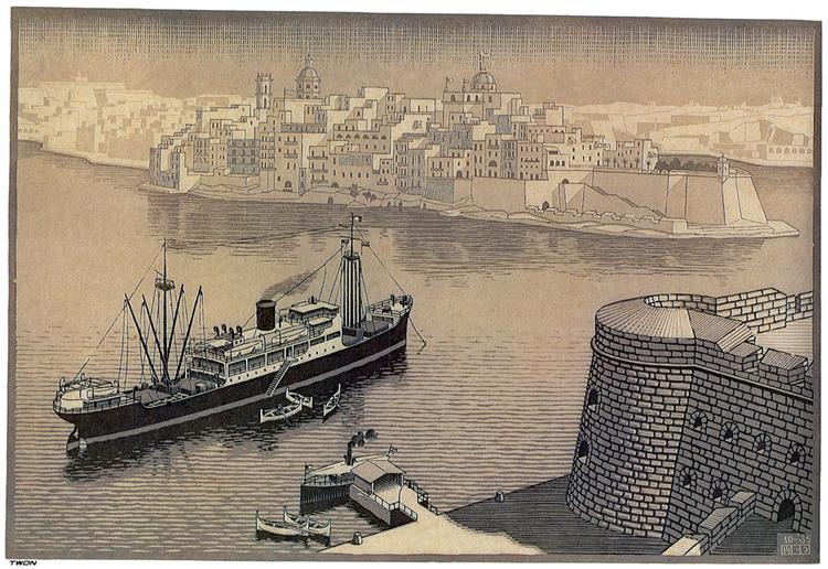 Sengela, Malta, 1935 - M.C. Escher