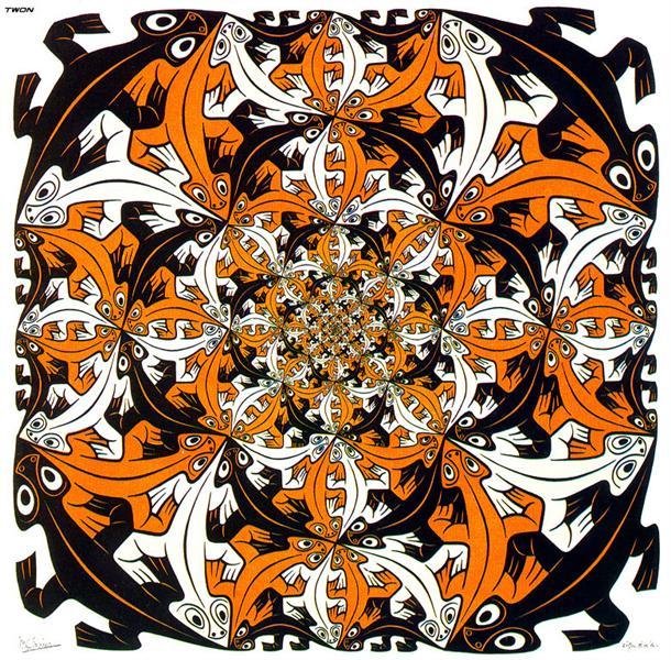 Smaller & Smaller Colour, 1956 - M.C. Escher