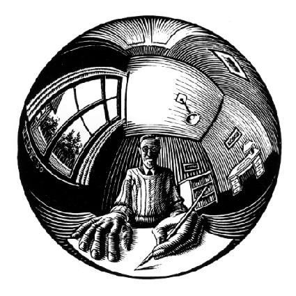 Spherical Self Portrait, 1950 - M.C. Escher