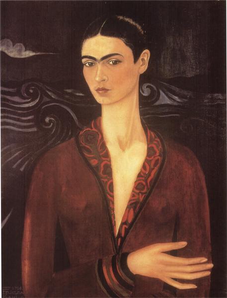 Self-portrait in a Velvet Dress, 1926 - Frida Kahlo