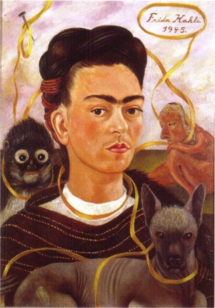 Self Portrait with Small Monkey, 1945 - Frida Kahlo