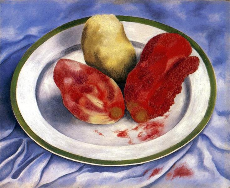 Tunas (Still Life with Prickly Pear Fruit), 1938 - Frida Kahlo