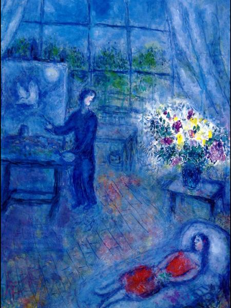 Artist and His Model, c.1973 - Marc Chagall