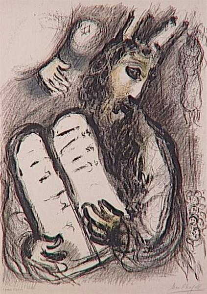 Moses with the Tablets of the Law, 1963 - Marc Chagall