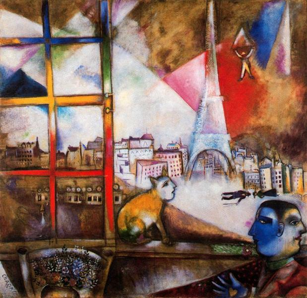 Paris through the Window, 1913 - Marc Chagall