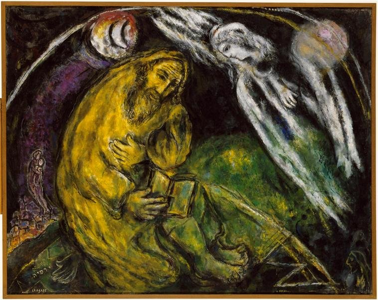 Prophet Jeremiah, 1968 - Marc Chagall - WikiArt.org Chagall Gouaches Jeremia