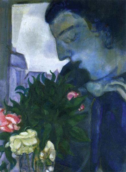 Self Portrait in Profile, 1914 - Marc Chagall