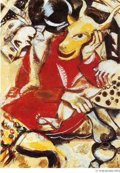 To My Betrothed, 1911 - Marc Chagall