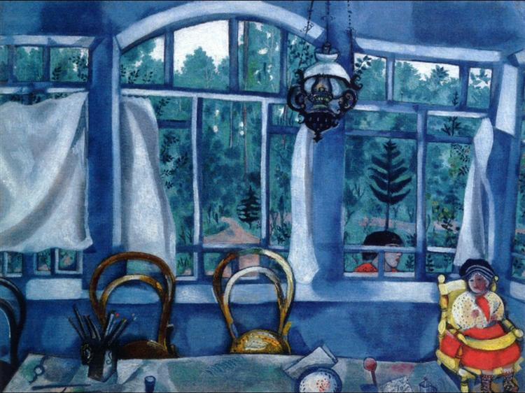 Window over a Garden, c.1917 - Marc Chagall