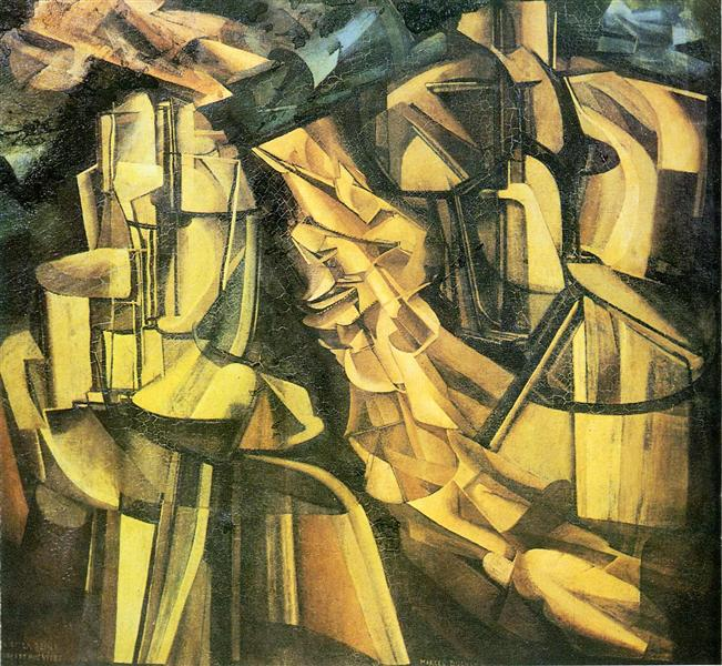 King and Queen surrounded by swift nudes, 1912 - Marcel Duchamp