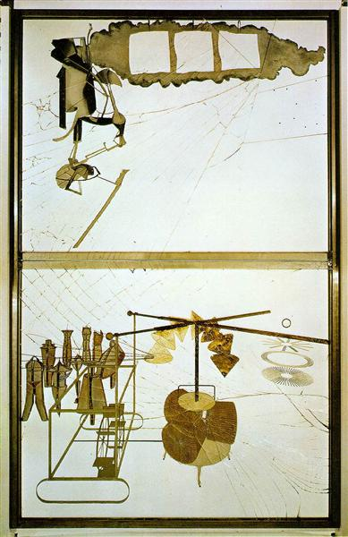 The Bride Stripped Bare by her Bachelors, 1915 - 1923 - Marcel Duchamp