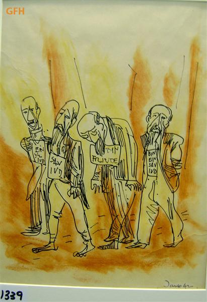 Four Figures About to be Executed, 1942 - Marcel Janco