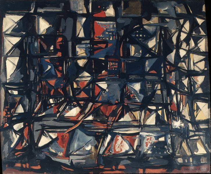Untitled, 1955 - Maria Helena Vieira da Silva
