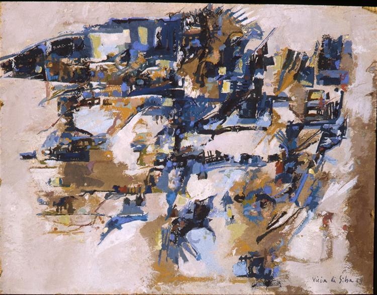 Untitled, 1958 - Maria Helena Vieira da Silva