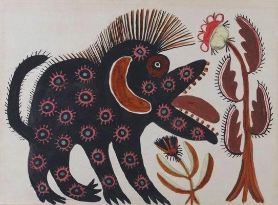 Black Beast, 1936 - Maria Primachenko