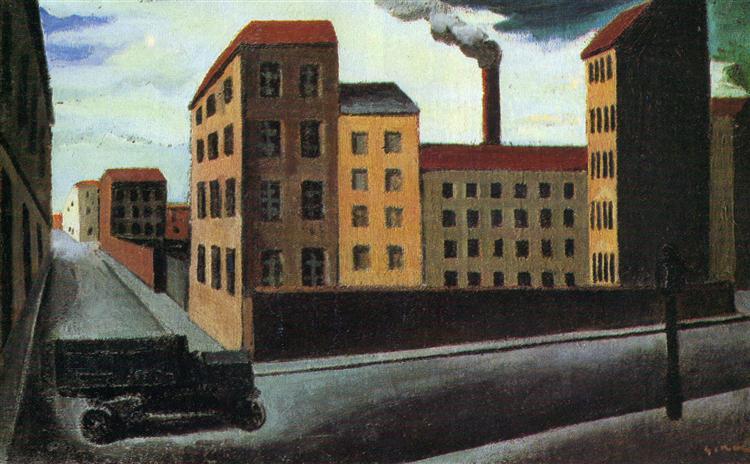 Cityscape with truck - Mario Sironi
