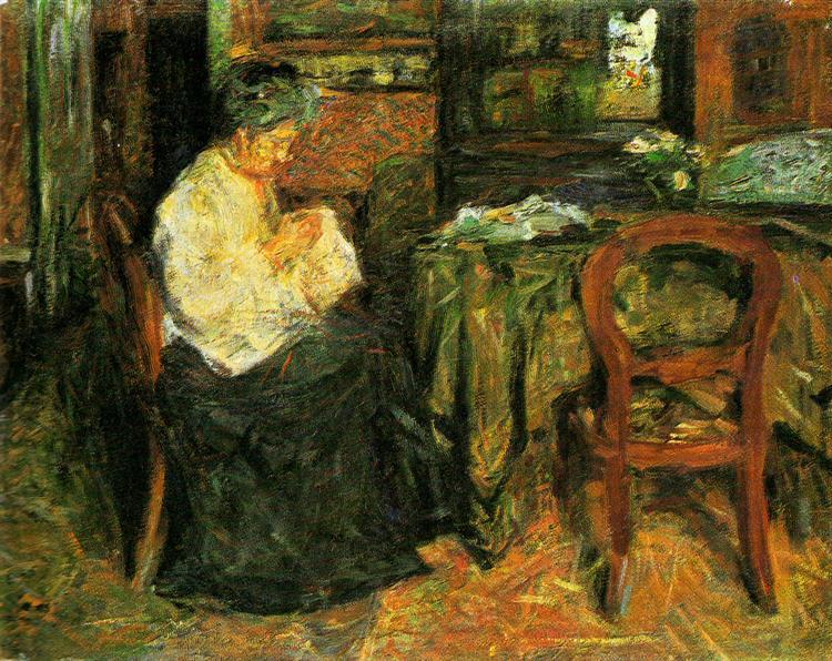The mother sews, 1925 - Mario Sironi