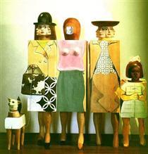 Women and Dog - Марісоль Ескобар