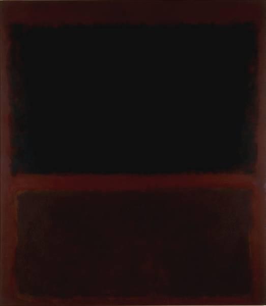 Black on Dark Sienna on Purple, 1960 - Mark Rothko