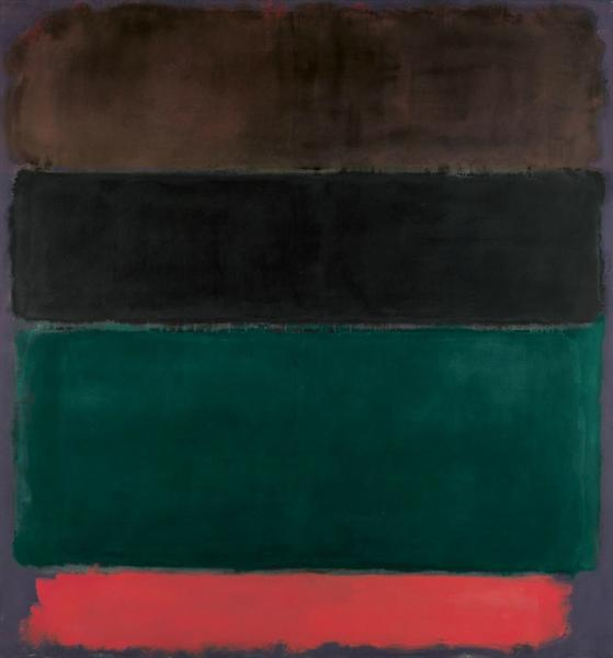 Untitled (Red-Brown, Black, Green, Red), 1962 - Mark Rothko