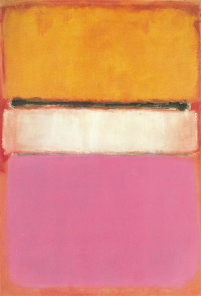 White Center (Yellow, Pink and Lavender on Rose) - Mark Rothko