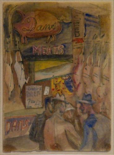 Pike Street Market, 1942 - Mark Tobey