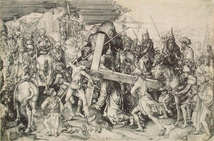 Christ bearing his cross - Martin Schongauer