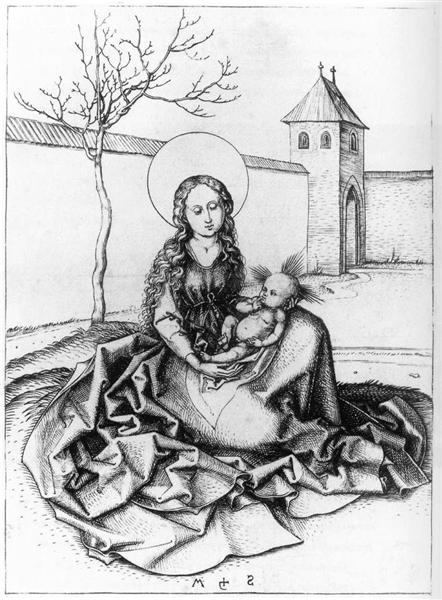 Madonna and Child in the Couryard, c.1480 - Martin Schongauer
