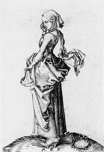 The Fifth Foolish Virgin, 1483 - Martin Schongauer
