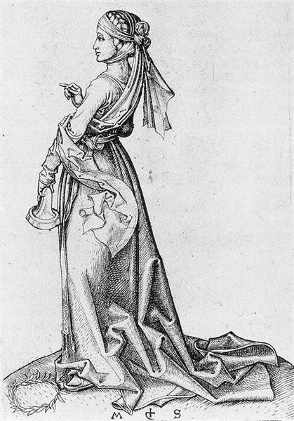 The First Foolish Virgin, 1483 - Martin Schongauer