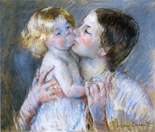 A Kiss for Baby Anne (no. 3) - Mary Cassatt