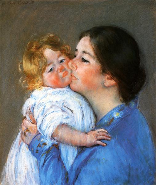 A Kiss For Baby Anne, c.1897 - Mary Cassatt