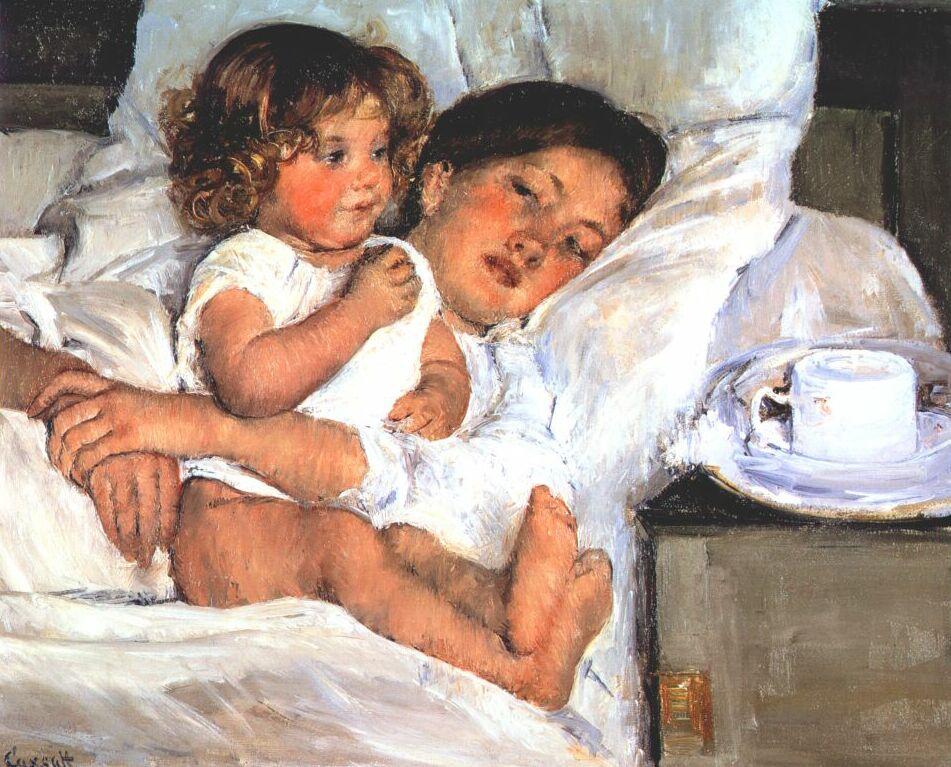 Breakfast In Bed 1897 Mary Cassatt Wikiart Org