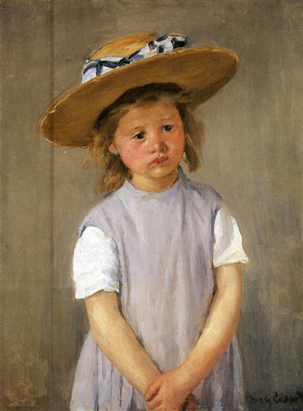 Child In A Straw Hat, c.1886 - Mary Cassatt
