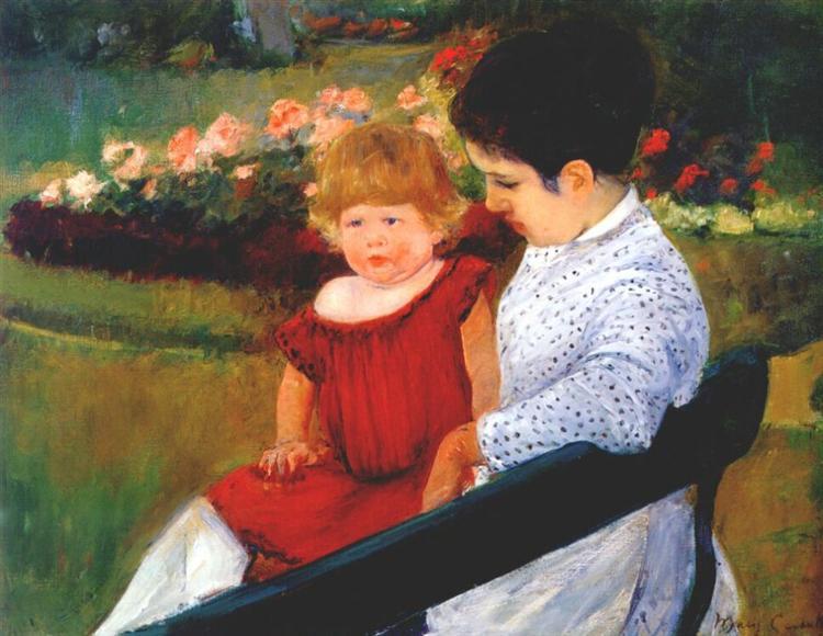 In the park, c.1894 - Mary Cassatt