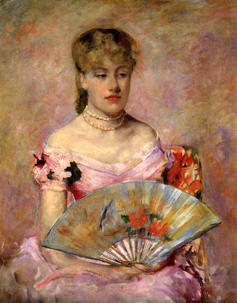 Lady with a Fan (Portrait of Anne Chlotte Gailld), c.1880 - Mary Cassatt