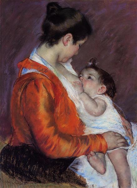 Louise Nursing Her Child, 1898 - Mary Cassatt