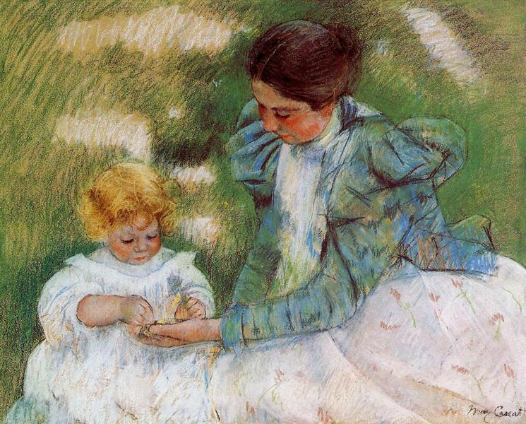 Mother Playing with Her Child, c.1899 - Mary Cassatt