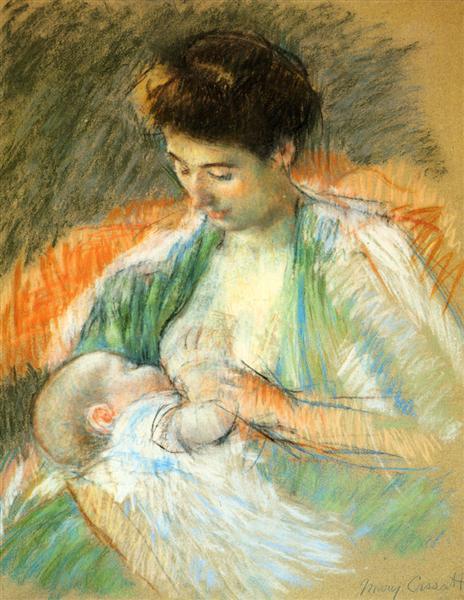 Mother Rose Nursing Her Child, c.1900 - Mary Cassatt