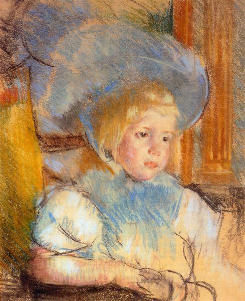 Simone in Plumed Hat, c.1903 - Mary Cassatt