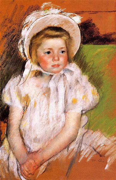 Somone in a White Bonnet, 1901 - Mary Cassatt