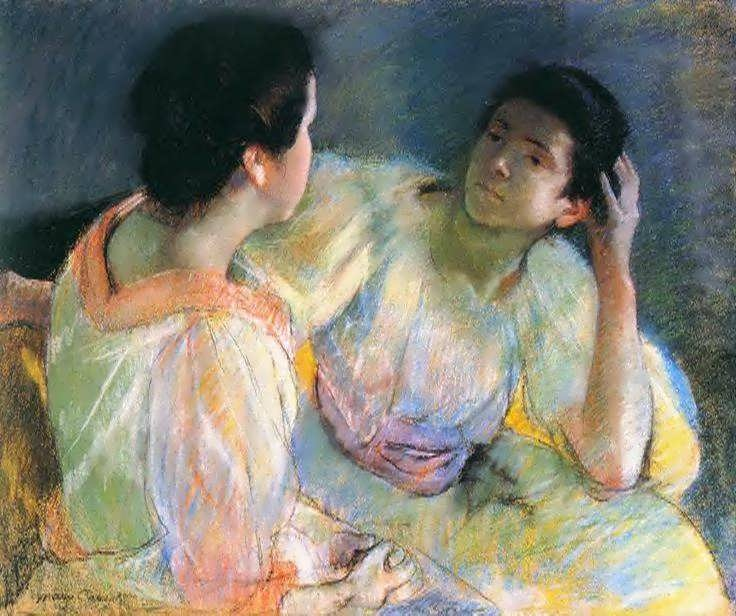 Image result for mary cassatt conversation