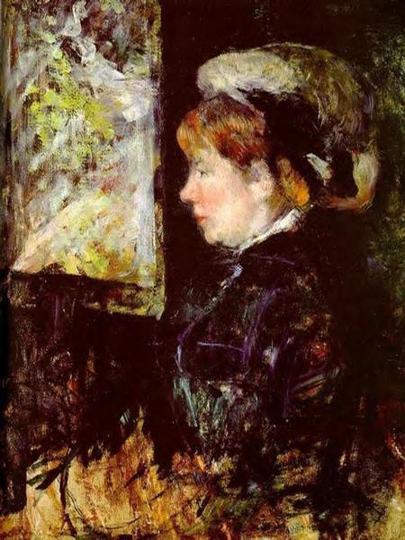 The Visitor, c.1880 - Mary Cassatt
